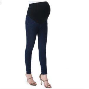 Pants - Breathable Blended Rayon Denim Maternity Leggings